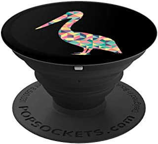 Pelican Abstract Color Summer Bird Heron Lover Girl Gift PopSockets Grip and Stand for Phones and Tablets