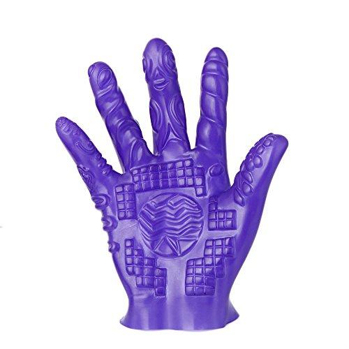 Embiofuels - Magic Palm Hand Masturbator Sex Glove Female Masturbation Breast Nipple Massage Glove Couple Adult Games Flirting Sex Toy [ Purple ]