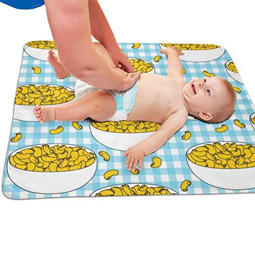 en kaas op blauw check gewatteerde dikker langer waterdicht veranderen pad liners voor baby's 31.5 X 25.5 inch