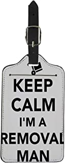 Pinbeam Luggage Tag Belpacker Keep Calm I Am Removal Man Box Suitcase Baggage Label