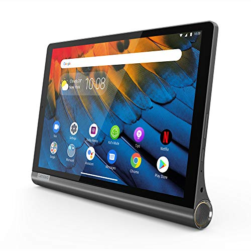 Lenovo Yoga Smart Tab Tablet, Display 10.1' Full HD, Processore Qualcomm Snapdragon 439, 64GB Espandibili Fino a 256GB, 4GB RAM, WIFI+LTE, Android Pie, Iron Grey