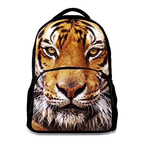 Animal School Bag,School College Backpack,Teenagers Casual Daypack,17 Inch Laptop Backpack for Men(Tiger)