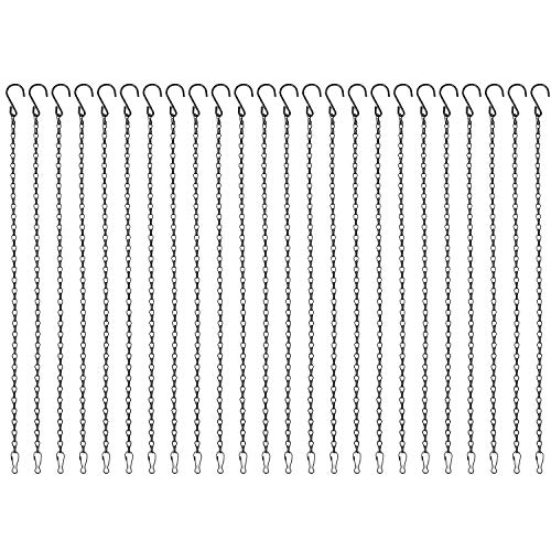 Foraineam 24 Pack 19.7 Inches Hanging Chains Garden Plant Hangers for Bird Feeders, Planters, Billboards, Lanterns and Ornaments