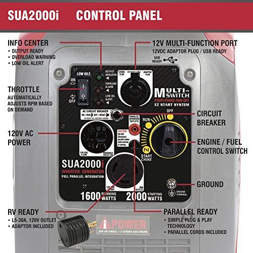 A-iPower SUA2000iV Super Quiet 2000-Watt Portable Inverter Generator