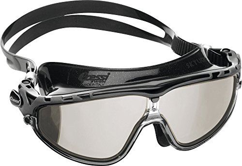 Cressi Skylight Swim Goggles, Occhialini Premium per Nuoto, Piscina, Triathlon e Sport Acquatici Unisex Adulto, Nero/Nero/Lenti Grigio Specchio