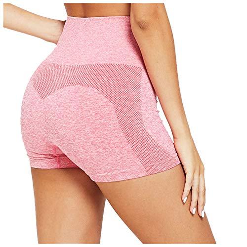 AFFGEQA Damen Yoga Slim Fit Sportshorts Legging Fitness Hosen Shorts Hosen Jogging Hohe Taille Hüftlift Einfarbig Mehrere Farben Gamaschen Ohne Taschen Kurze Shorts