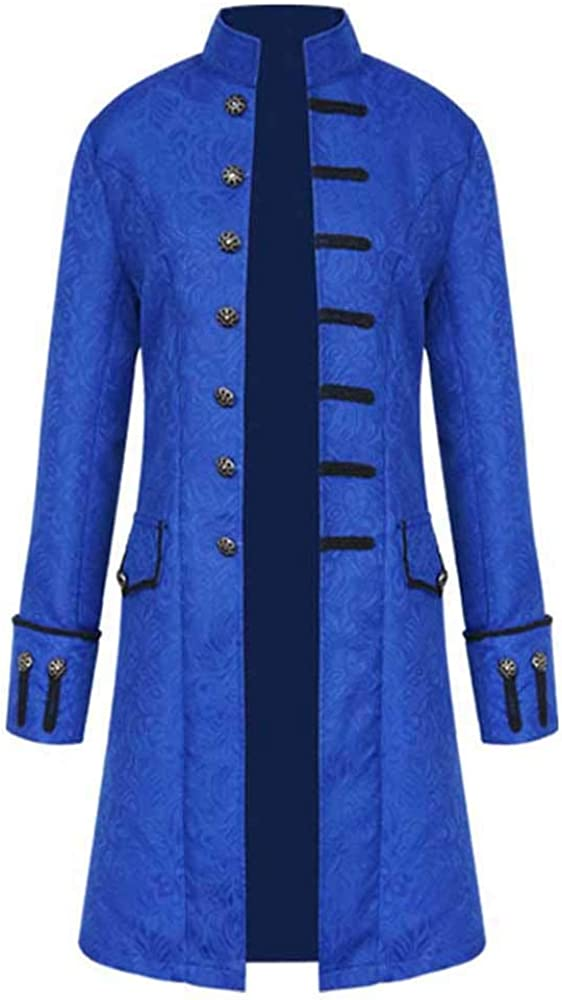 Men Vintage Winter Warm Tailcoat Long Buttons Award Outwear Price reduction Coat