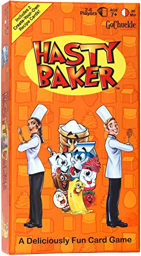 Hasty Baker Card Game - Fun Family Game for Kids and Adults - Collect Ingredient Cards and Finish Your Recipe First - Includes 2 Create Your Own Recipe Cards - Ideal for 2-6 Players Ages 7+