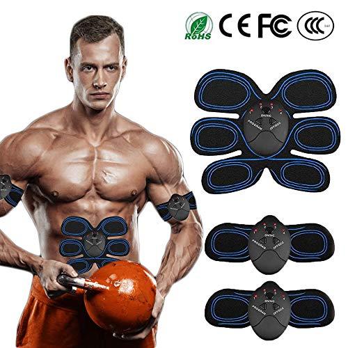HycM Elettrostimolatore Muscolare EMS,Cinghia tonificante Addominale con,Addominali Attrezzi ABS Trainer,EMS Addominali Trainer Elettrico per Braccia Elettrostimolatore Glutei