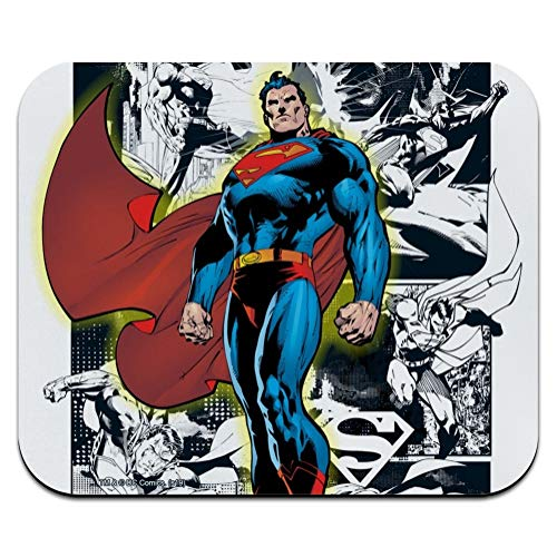 Superman Glowing Aura Low Profile Thin Mouse Pad Mousepad