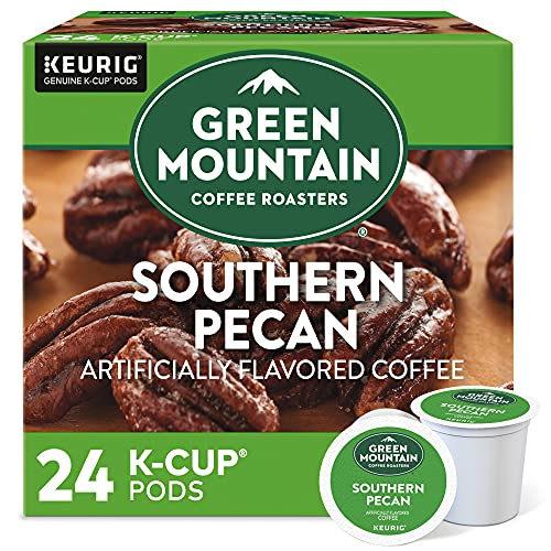 Green Mountain Coffee Roasters Southern Pecan, Single-Serve Keurig K-Cup Pods, Flavored Light Roast, 24 Count