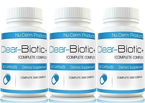 Clear Biotic (3pk) Acne Vitamins Best Acne Pills Supplements for Acne Treatment W Super Acne Vitamins A E C & B2