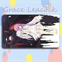 Grace Leacock カードゲームプレイマット 遊戯王 プレイマット hololive ホロライブ 湊 あくあ YouTuber アニメグッズ TCG万能 収納ケース付き アニメ 萌え カード枠なし (60cm * 35cm * 0.4cm)
