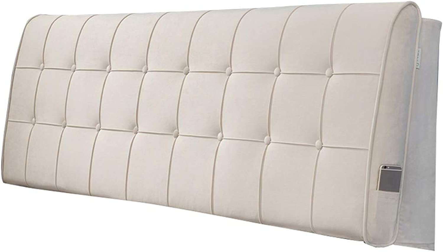 Upholstered Headboard for Bed Wedge Head Board Cushion Pillow Divan Backrest Flocking Fabric
