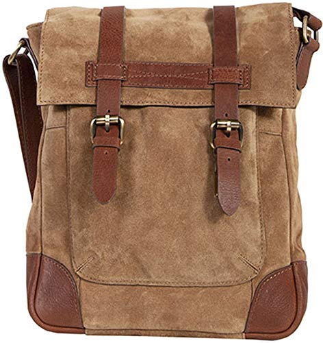 Scully Men's 934 Suede And Leather Messenger Bag, Brown - One Size