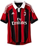 AC Milan Soccer Home Jersey, X-Large, Red/Black/White