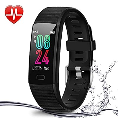 Airbinifit Fitness Tracker for Kids,Waterproof Activity Tracker with Heart Rate Monitor,Pedometer Watch,Clock, Sleep Monitor, Stopwatch,Step Counter for Boys and Girls Teens