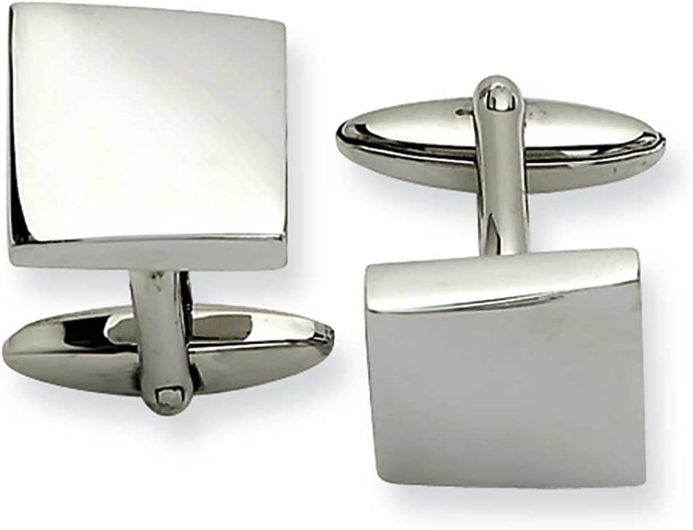 Chisel Stainless Steel Polished Cufflinks