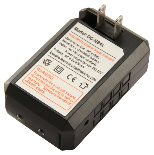 STK Canon NB-4L Battery Charger for Canon ELPH 330 HS, ELPH 300 HS, VIXIA mini, ELPH 100 HS, ELPH 310 HS, Powershot SD1400 IS, SD750, SD1000, SD600, SD1100 IS, SD630, SD400, SD450, SD780, CB-2LV