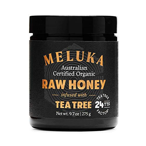 Meluka Australia Premium Raw Honey Infused with Tea Tree, TTF24, Unpasteurized and Unfiltered Natural Honey