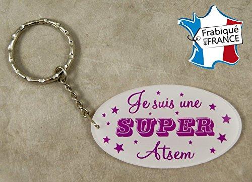 Porte Clef Je suis une Super ATSEM - Le Cadeau Original de Fin d'Année Scolaire. L'école est finie ! Vive les Vacances !