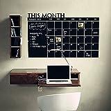 Calendario de pared reutilizable, diseño de planes mensuales, pizarra, para el hogar y la oficina