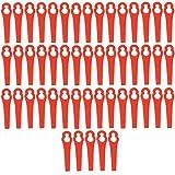 Xinlie Cuchillas de Repuesto de Plástico Cuchillas de Plástico Cuchillas de Recambio para Cortacésped Recortador de Cuchillas de Plástico Cortador de Plástico para Accesorios de Podadoras (50 PCS)