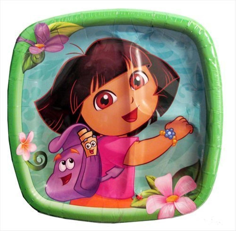 ventas calientes Dora the Explorer Explorer Explorer 'Flower Adventure' Large Paper Pocket Plates (8ct)  servicio considerado