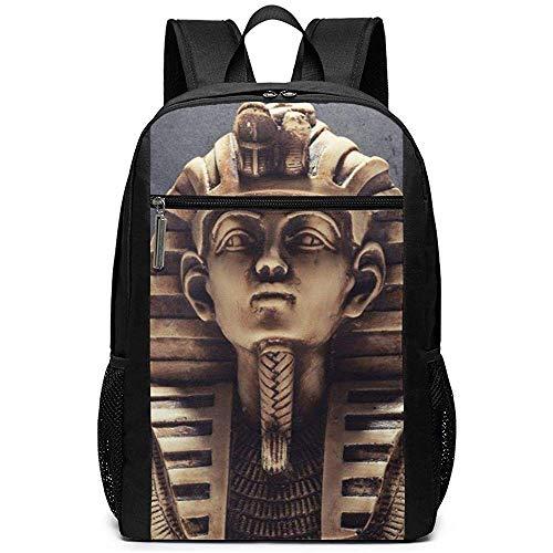 Stein Pharao Maske Rucksäcke Schule Bookbag Umhängetasche Casual Daypack Laptop Tasche Stein Pharao Maske