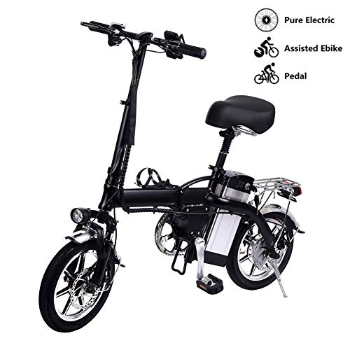 Convincied Lamtwheel 14'' Electric Foldable Bike with Removable Large Capacity Lithium-Ion Battery (48V/10Ah 350W)