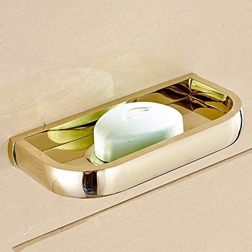 XBR du carré d'or - cuivre européenne cadre net le savon de savon de toilette,golden,- savon