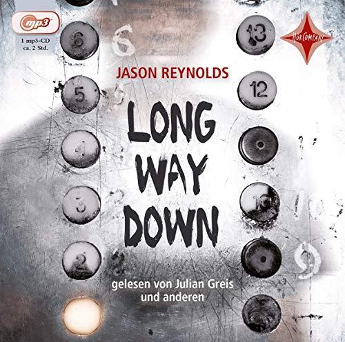 Buchseite und Rezensionen zu 'Long Way Down: Aus dem Englischen von Petra Bös, gelesen von Julian Greis u.a., 1 mp3 CD, ca. 2 Std.' von Reynolds, Jason