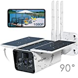 Wireless Security Camera Outdoor, Koogeek 1080p HD Solar Security Camera 10400mAh Rechargeable Battery
