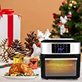 ROVSUN ZOKOP Air Fryer Oven Family Size, 16.9 Quarts 1800W ETL Listed All-in-One Air Fryer Oven, Rotisserie, Dehydrator, Oilless Cooker, 8 Cooking Presets, 9 Accessories LED Touch Screen Auto-Shutoff Safety Black