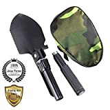 Meanhoo Military Folding Shovel Survival Spade Emergency Tool for Outdoor indoor...