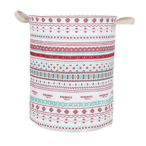 XYHDSM Storage Basket 2021 New Super Large Laundry Basket with Drawstring Round Dirty Clothe Folding Bucket Anti Dust Big Storage Barrel Hamper