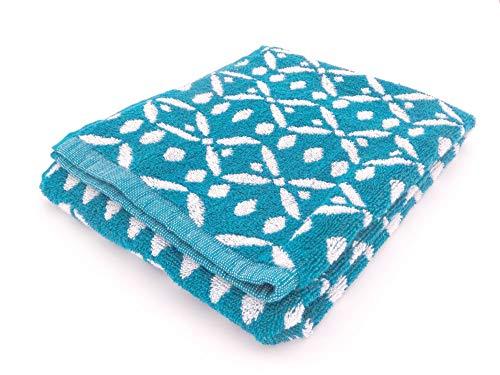 TODAY Drap de Bain Borneo, Coton, 50 x 90 cm, Bleu Marine, Couleur:Blau