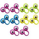 ゴシレ [Gosear] 子供の子供のおもちゃのランダムな色のための小刻み眼球と10個のかわいい大きな目指人形ろ目リング