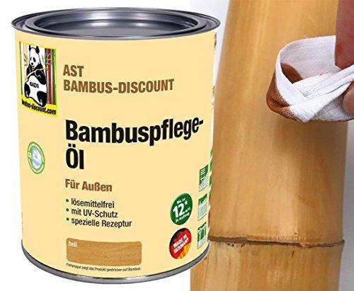AST Bambus Pflegeöl W Hellbraun für außen - Bambuspflege Öl - 0,75 Liter