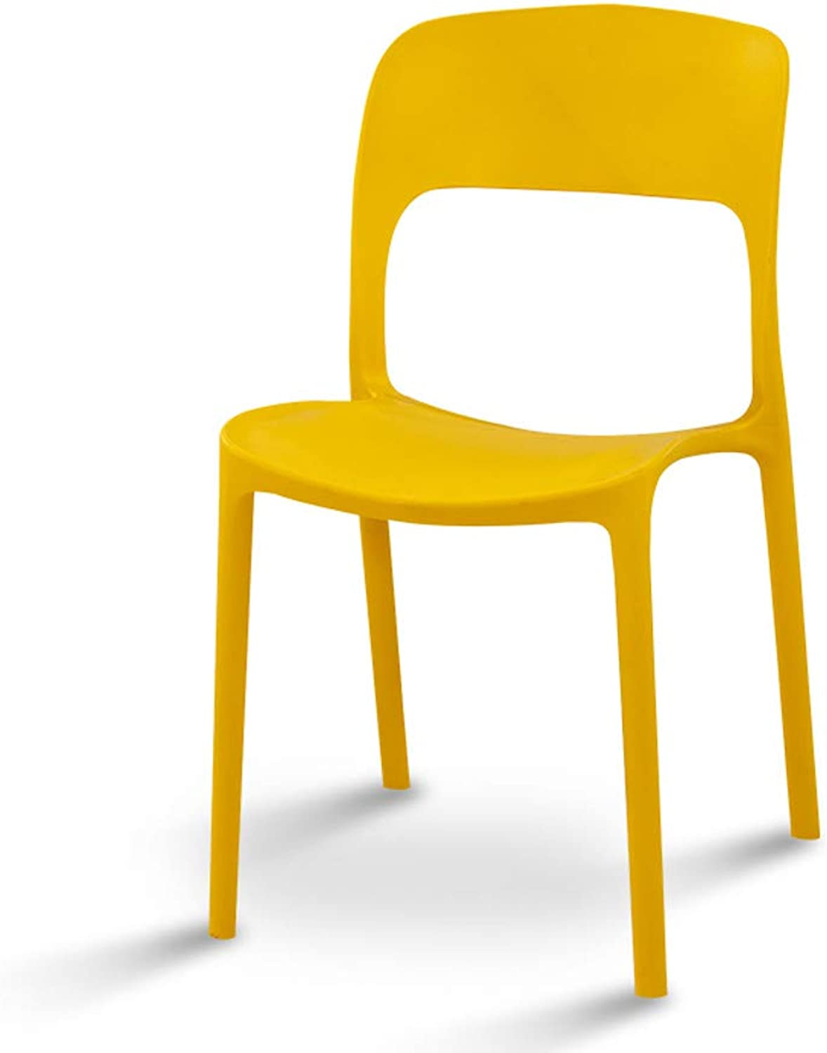 Simple Nordic Plastic Dining Table and Chairs Home Meeting to Discuss Training Chairs Restaurant Lounge Chair Computer Chair Yellow