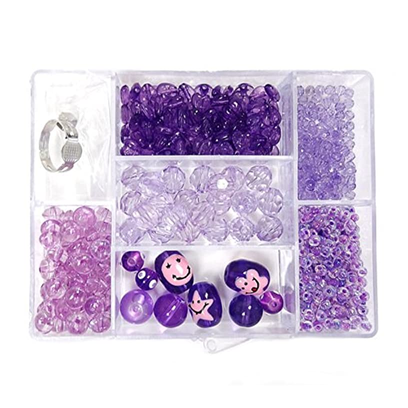 Linpeng Bead Box with FREE spacers and charms, Lavender