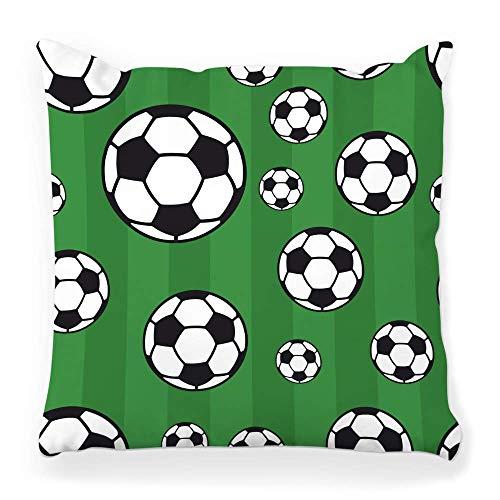 REAlCOOL Cubierta de almohada cuadrada de 45,7 x 45,7 cm de fútbol balón de fútbol estratégico zona de tren ataque pizarra pizarra centro de carrera desafío barco