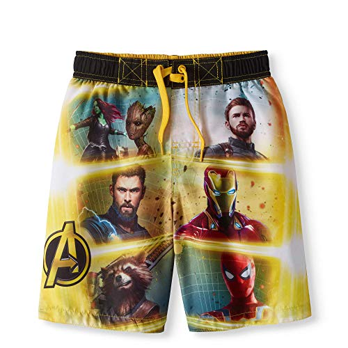 Marvel Comics Avengers Infinity War Badehose - Gelb - Medium
