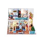 Walmeck- Miniatura Super Mini Size Doll House Model Kits de construcción Muebles de Madera Juguetes DIY Dollhouse Girl Bedroom Home of Helen