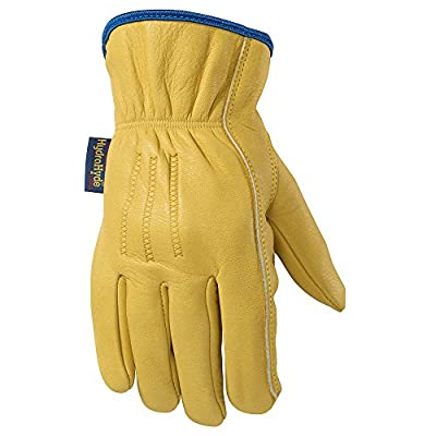 Wells Lamont Men's Water-Resistant Leather Work Gloves with HydraHyde Technology