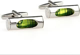 3d Green Spirit Level Cufflinks Green Liquid Men's Business Shirt Dress Cufflinks for Engineer Designers