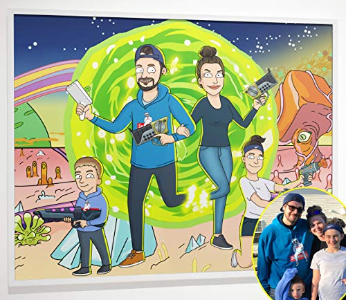 Custom Rick and Morty Family Portrait Poster - iToonify