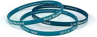 Pulsera Real Madrid Club de Fútbol Classic Azul Turquesa Estándar para Hombre, Pulsera de Silicona, Producto Oficial