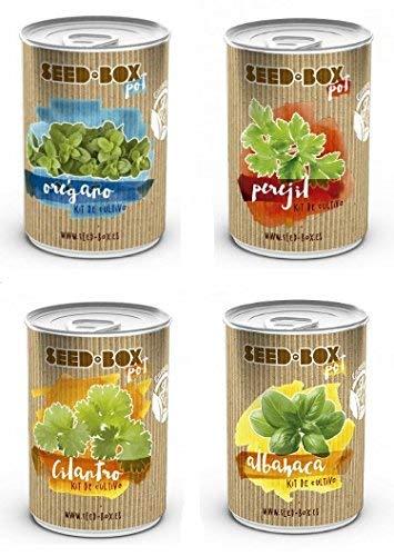 Kit Cultivo Set ecológico 4 variedades de Especias: Albahaca ...