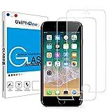UsiPhone - Lot de 2 Verres Trempés Transparent Compatible avec iPhone 7 Plus/iPhone 8 Plus [5,5 Pouces] Film Protection...